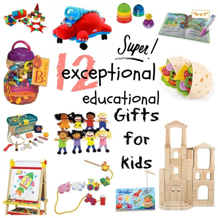 education Christmas presents for kids collage
