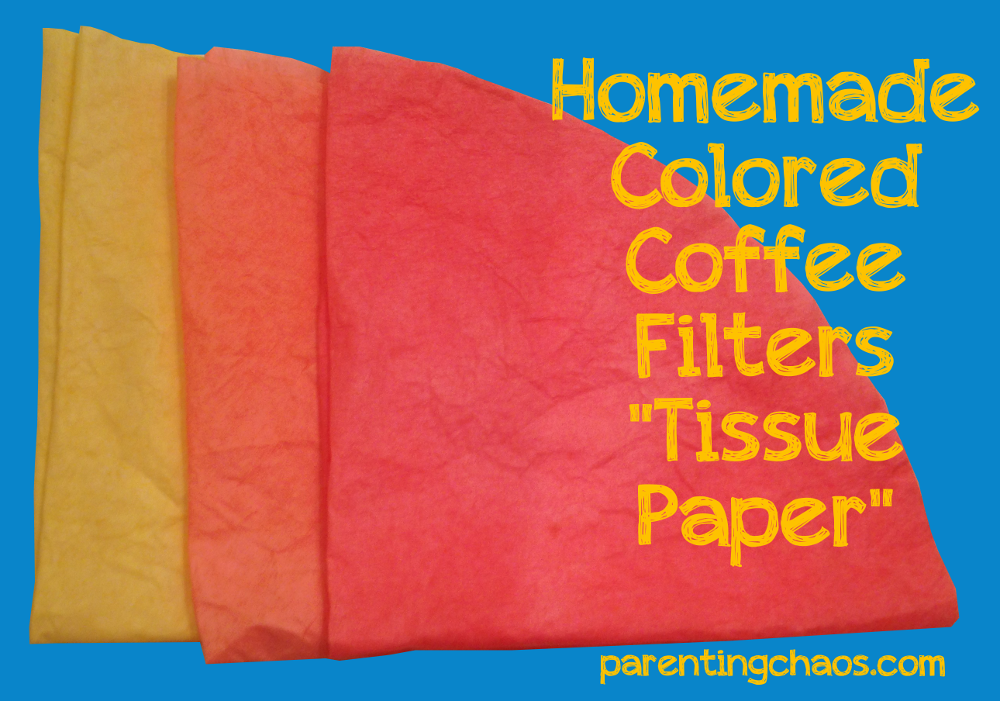 Homemade Dyed Coffee Filters