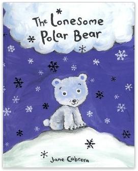 shaving cream polar bear craft, the lonesome polar bear Jane Cabrera