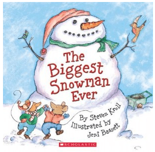 books about snowmen, the biggest snowman ever Steven Kroll