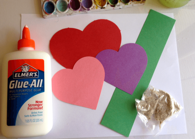 Valentine Heart Flowers Craft