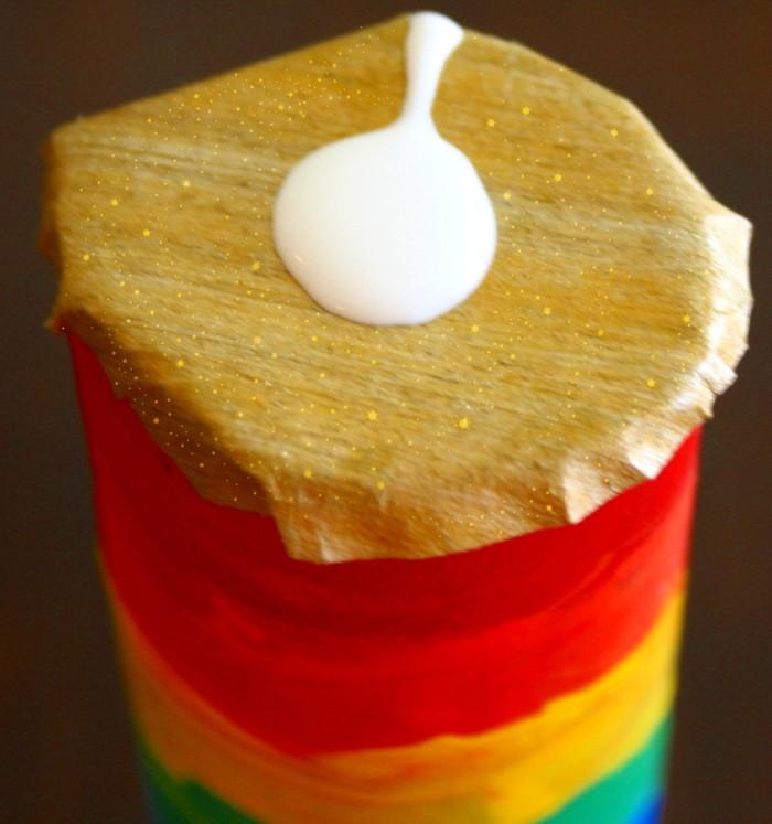 rainbow rain stick craft