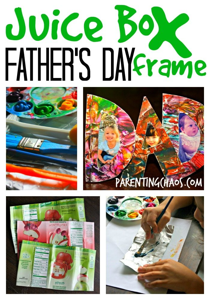 juice box father's day frame
