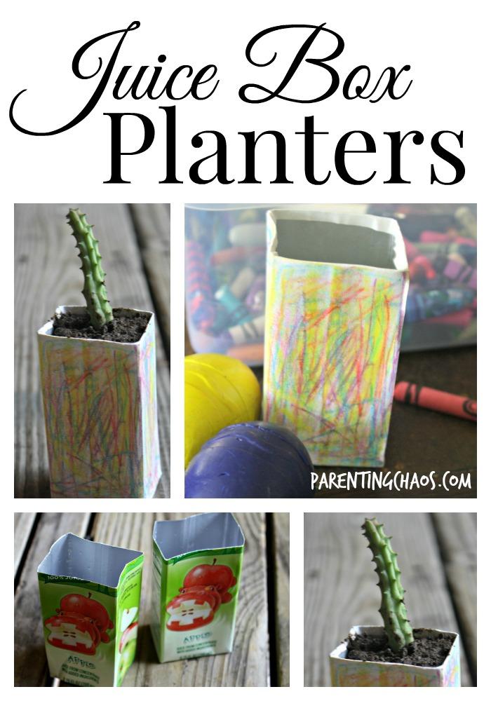 juice box planters