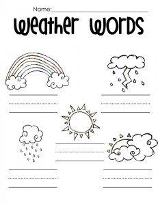 weather printables