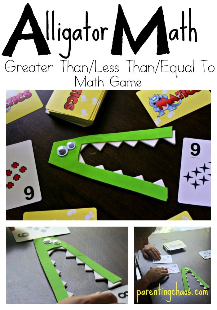 Alligator Math: Equal, Less, and Greater Than Math Game