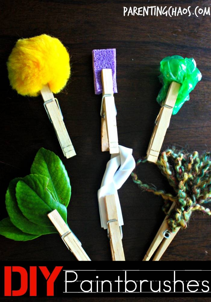 Fun and Easy DIY Paintbrushes to get your Kids Creating!