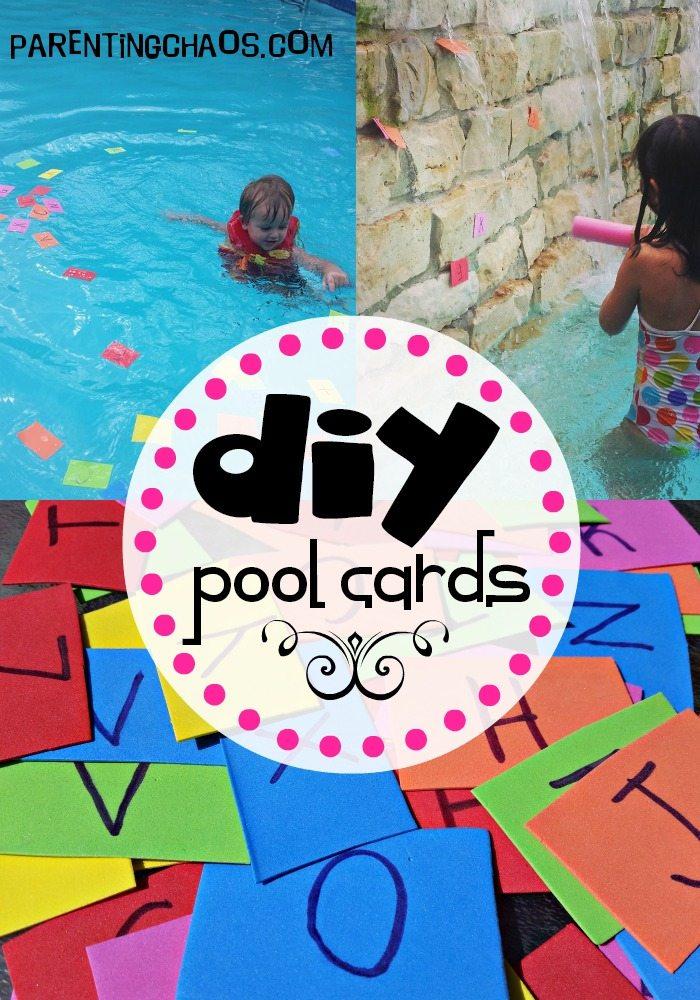 diy foam pool cards