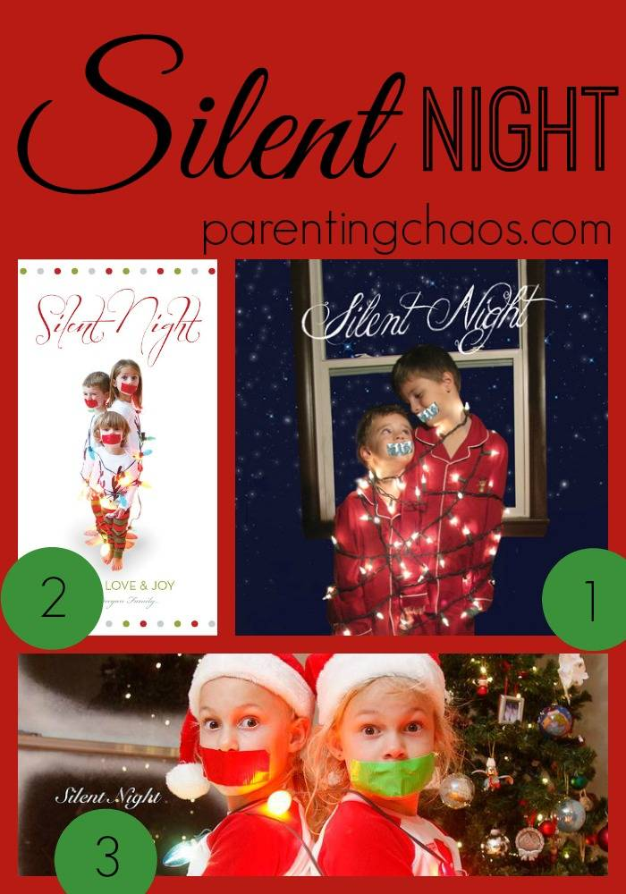 Silent Night Christmas Card Theme
