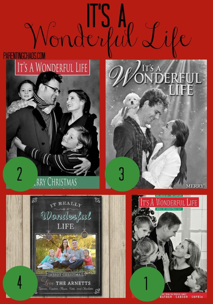 It's A Wonderful Life Christmas Card Theme