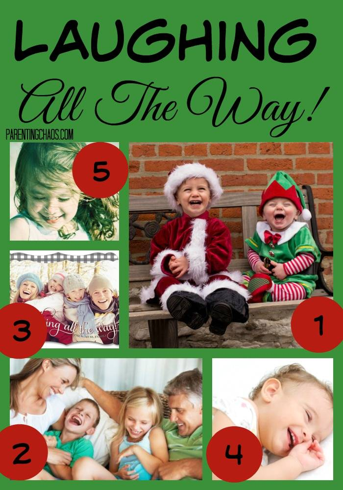 Laughing All The Way Christmas Card Theme
